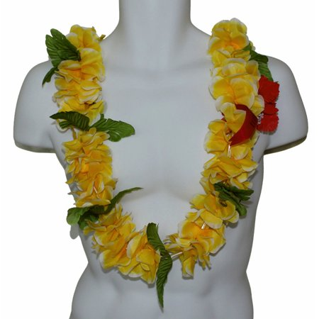 #43 Yellow, Full Lei](Aloha Party Supplies)