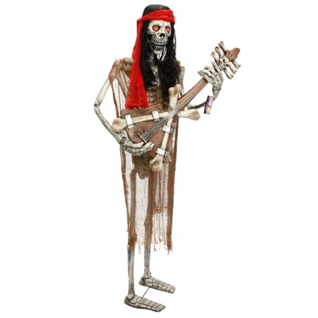 Halloween Haunters Standing Skeleton Zombie Man Guitar Rock Band Prop Decoration for $<!---->