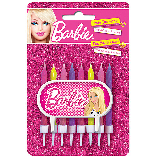 Barbie Cake Topper and Birthday Candle Set