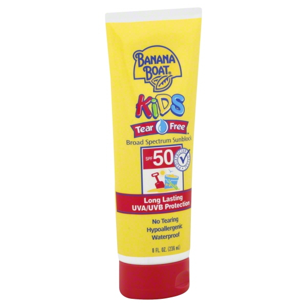 Banana Boat Kids Sunscreen Lotion UVA/UVB Protection Broad Spectrum, SPF 50, 8 fl oz