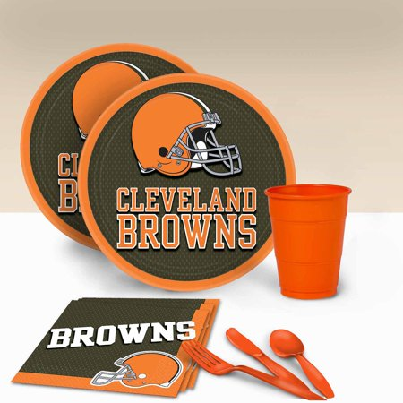 Cleveland Browns Tableware Party Pack for - Party City Cleveland
