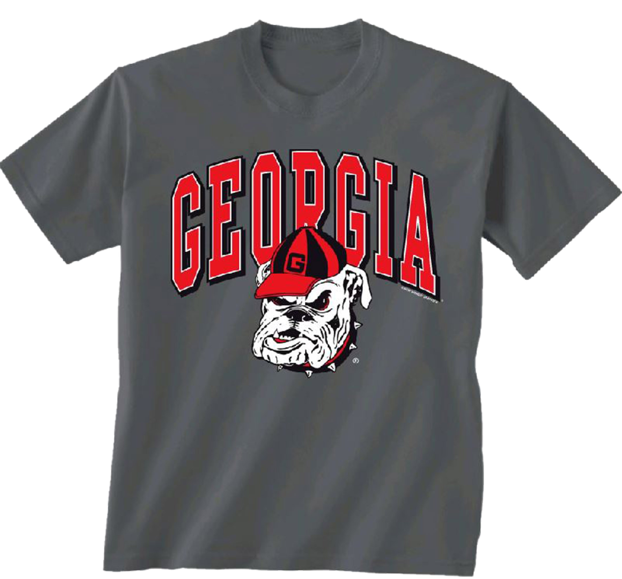NCAA Georgia Bulldogs Arch Old Mascot Short Sleeve T-shirt-small