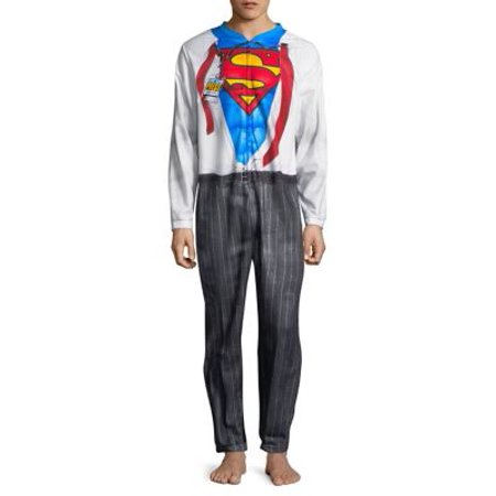 Superman Clark Kent Adult Union Suit - Clark Kent Costume Halloween