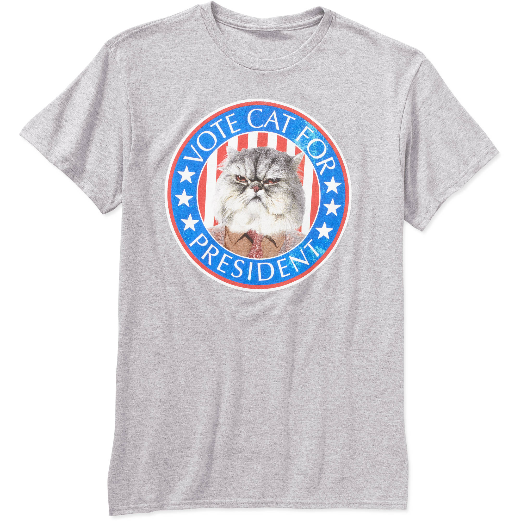 Vote Cat for President Big Men's Graphic Tee