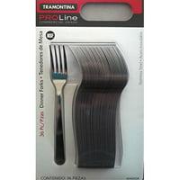 tramontina pro line 36 dinner forks commercial grade stainless steel