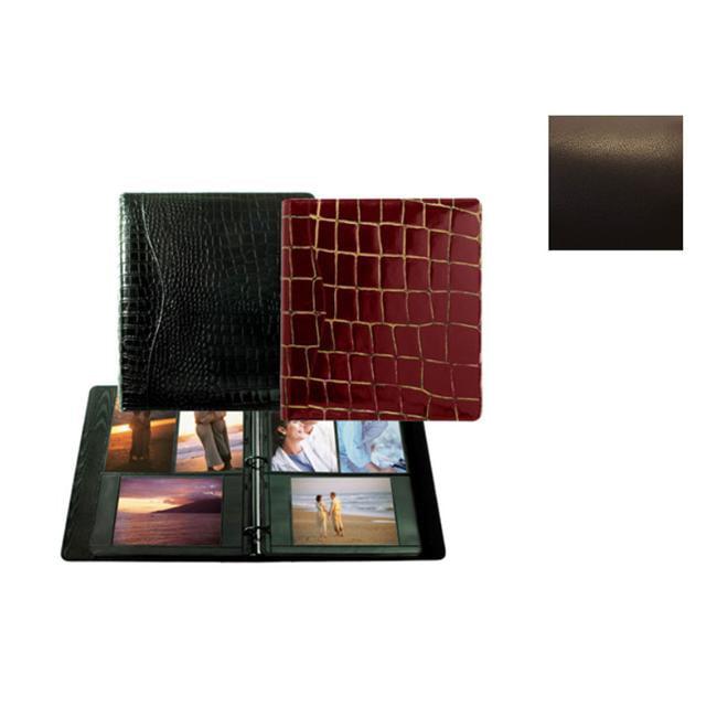 Raika RO 161 MOCHA 8.5in. x 11in. Three Ring Binder Photo Album - Mocha
