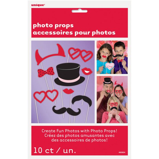 Valentines Day Photo Booth Props Assorted 10pk Walmartcom
