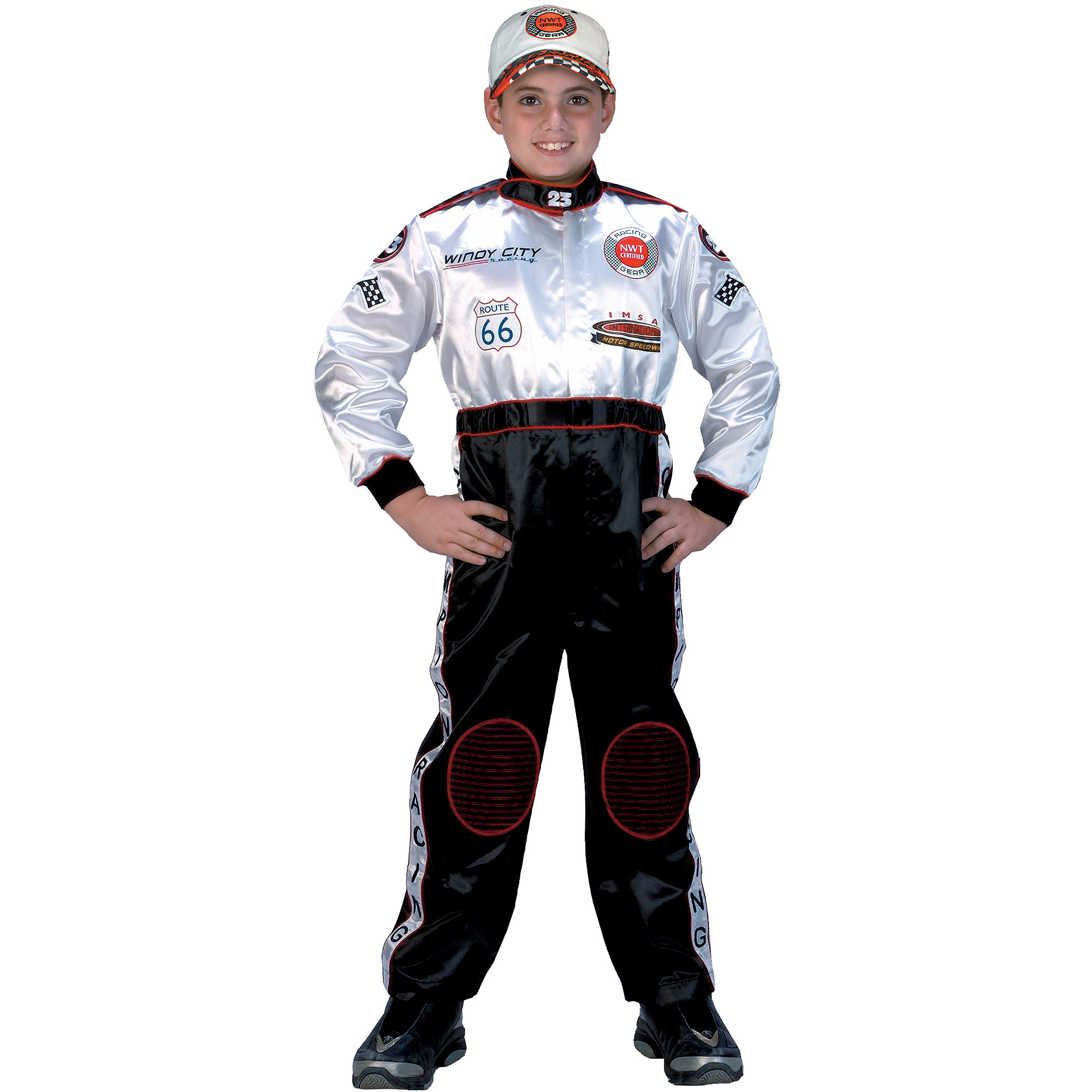 Black/White Racing Suit Child Halloween Costume