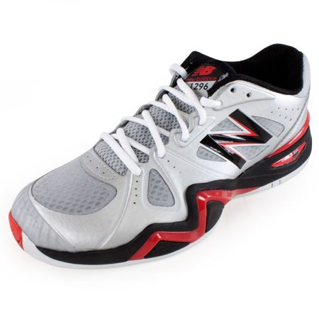 New Balance - Men`s 1296 D Width Tennis Shoes Silver and Red - Walmart.com e864984a72f