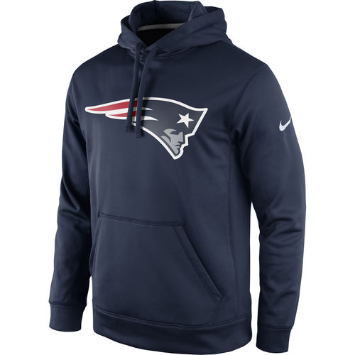 Men's Nike Navy New England Patriots Circuit Logo Essential Performance Pullover Hoodie