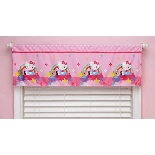 Hello Kitty Stars and Rainbows Window Valance by Crown Crafts Infant Products Inc