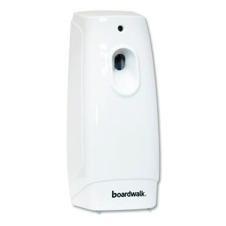 Boardwalk Classic Metered Air Freshener Dispenser, 4w x 3d x 9 1/2h, White (9000 Metered Aerosol Dispenser)