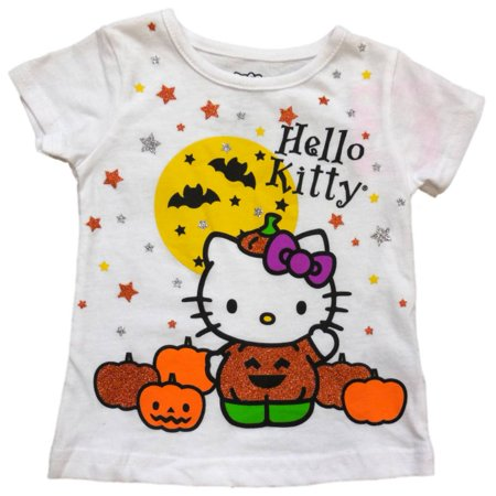 Hello Kitty Infant Baby Girls White Halloween Shirt Pumpkin Cat - Hello Kitty Makeup Tutorial Halloween