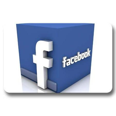 Deyou Facebook Doormat Outdoor Indoor Floor Mats Non Slip Bathroom Mats Size 18X30 Inch