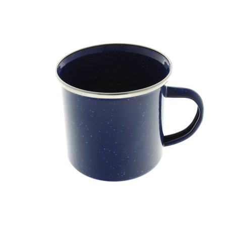 24 oz Enamel Mug - 4 Pack - Metal Camping Mug with Blue Enamel Finish - Coffee Mug for Camping, Hiking & Picnics