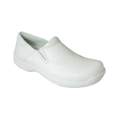 Men's Genuine Grip Footwear Slip-Resistant Slip-On Work Shoes