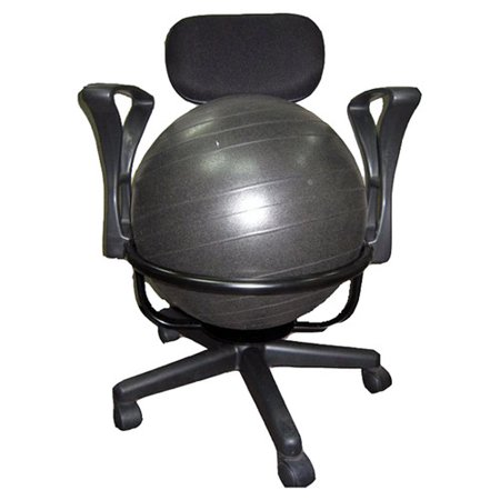 AeroMAT LowBack Deluxe Exercise Ball Chair Walmartcom - Ball chairs for office