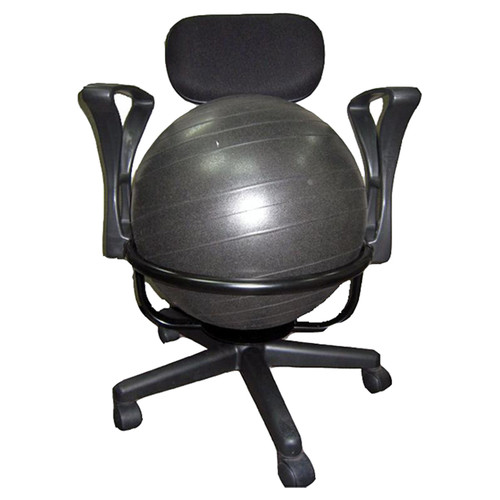 aeromat lowback deluxe exercise ball chair