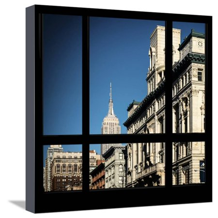 Dream Downtown Nyc Halloween (View from the Window - Downtown Buildings - NYC Stretched Canvas Print Wall Art By Philippe)