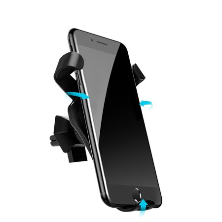 Qi Standard Car Wireless Stand Gravity Dashboard Windshield Car Mount Air Vent Phone Holder Cradle Suction Mount Fast Wireless Charging Stand for X/8/8 Plus & Galaxy S8/S8+/S7 Edge/S6 Edge+/Note 5/ - image 2 of 7