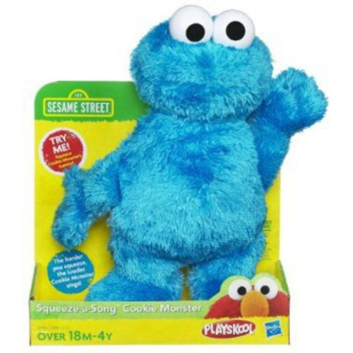 Playskool Sesame Street Squeeze A Song Cookie Monster Plush Stuffed Animal by Playskool