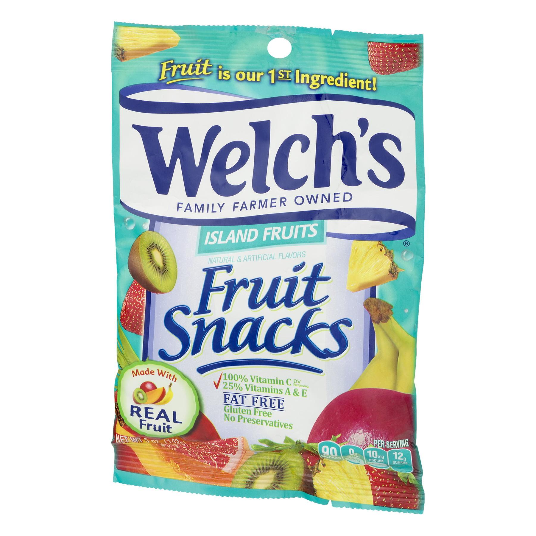 welch's island fruits fruit snacks, 5.0 oz - walmart