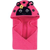 Hudson Baby Woven Terry Animal Hooded Towel, Lovely Ladybug