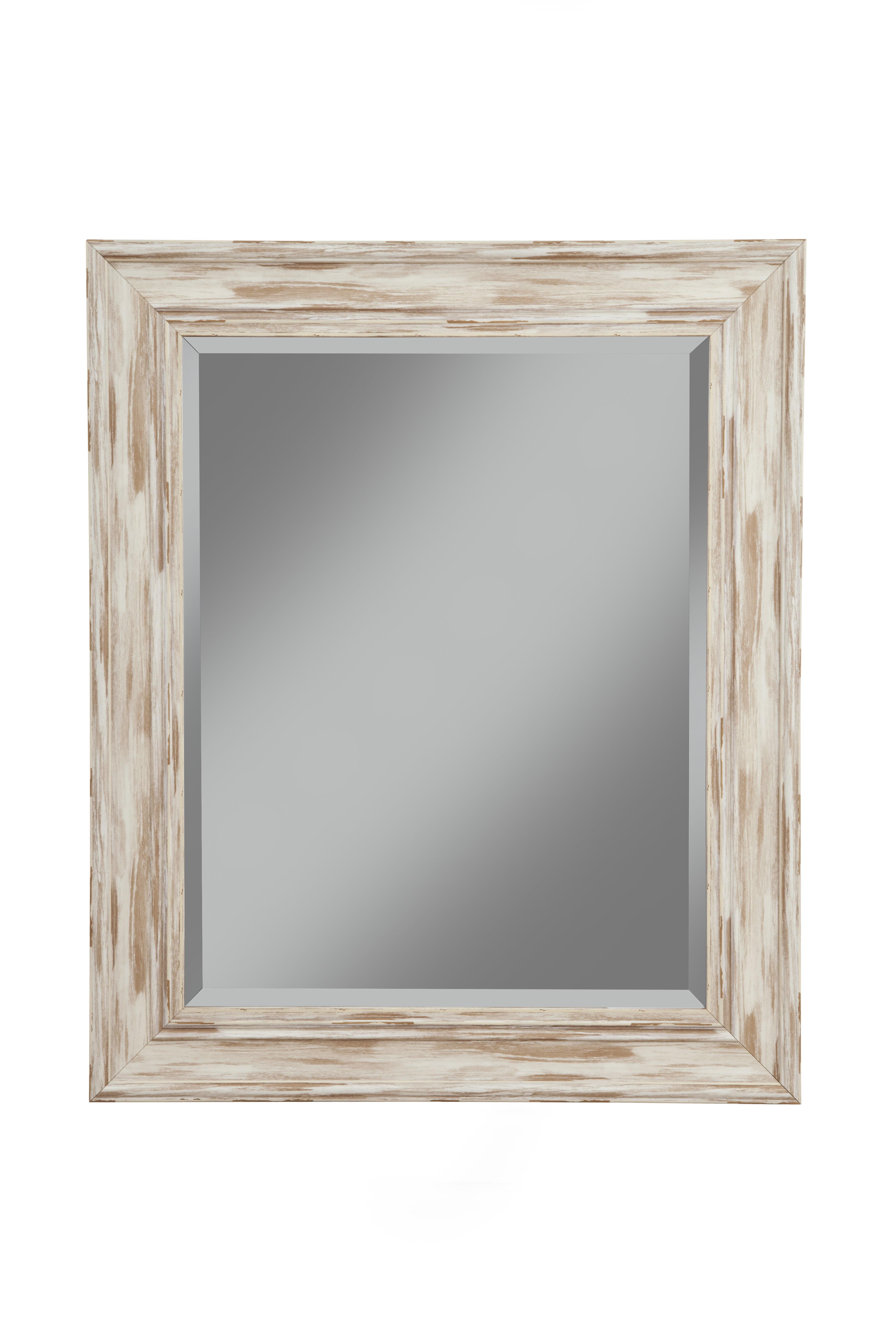 Farmhouse Antique White Wash Wall Mirror by Sandberg Furniture
