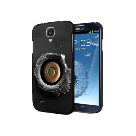KuzmarK Samsung Galaxy S4 Black Cover Case - Bullet Hole