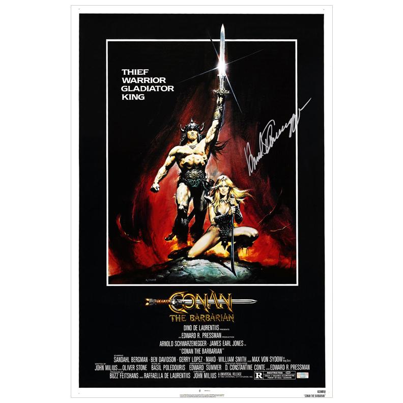 Arnold Schwarzenegger Autographed 16x24 Conan the Barbarian Poster