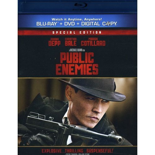 Public Enemies (Blu-ray   Standard DVD) (With INSTAWATCH) (Widescreen)