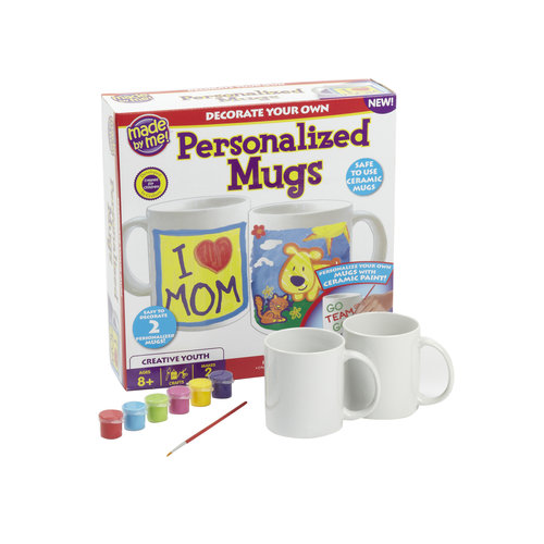 Kids Craft Made by Me Personalized Mug Kit