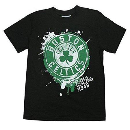 NBA Basketball Kids / Youth Boston Celtics Splatter Logo T-Shirt - Black