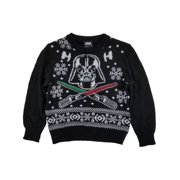 Star Wars Infant Baby Boys Black Darth Vader Knit Ugly Christmas Sweater 12m