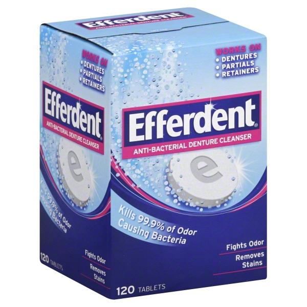 EFFERDENT; REGULAR; DENTURE CLEANSER