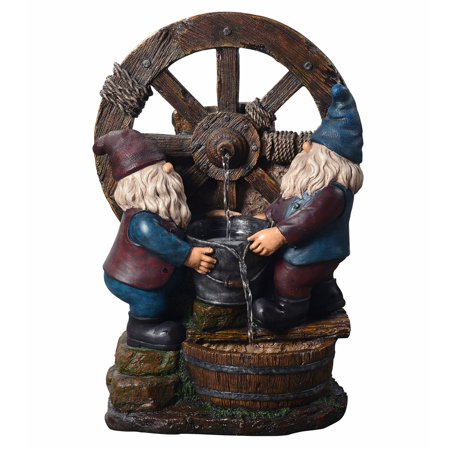 - Peaktop - Outdoor Little Gnome Friends Fountain