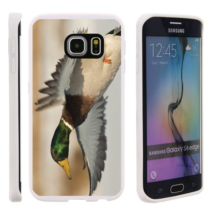 Flying Duck Design - Samsung Galaxy S6 Edge G925, Flexible Case [FLEX FORCE] Slim Durable TPU Sleek Bumper with Unique Designs - Flying Duck