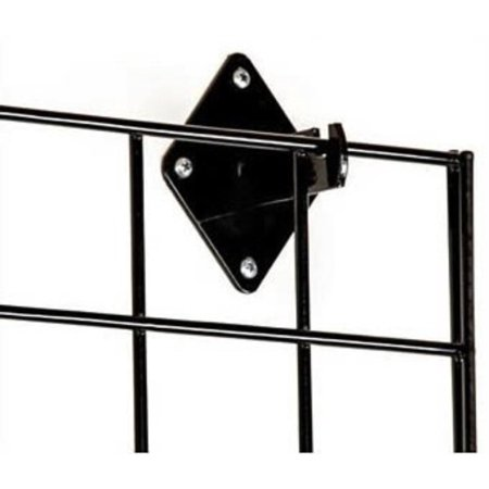 Wall Brackets for Gridwall or Grid Panels - Black Color - Set of 8 Pieces, Black Finish By Only Garment Racks,USA