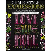 Chalk Style Expressions Coloring Book Color With All Types Of
