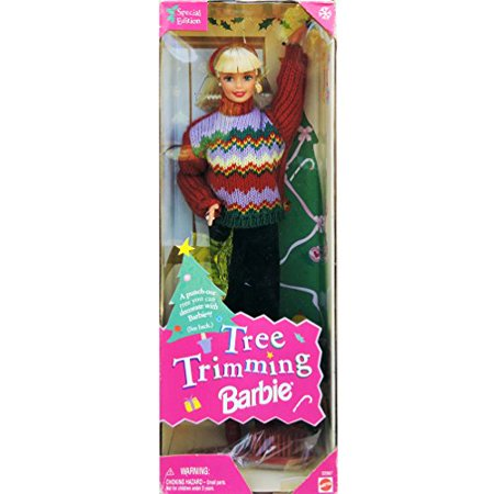 Barbie 1 X Christmas Tree Trimming Doll - Holiday Special Edition (1998) - Christmas Barbie