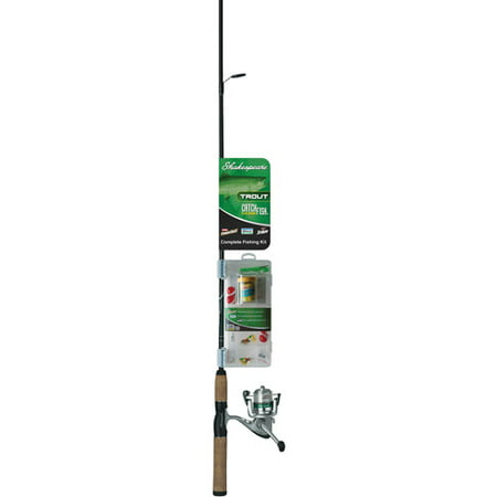 Shakespeare Catch More Fish Trout Light Power Spinning Combo, 2pc,