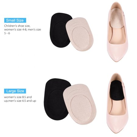 2 Pairs Gel Heel Lifts for Shoes Bone Spur Relief Cushion Self-adhesive Half Inserts Heel Cups Foot Pads Ankle Support Insoles for Plantar Fasciitis, Men Women Kids ,Gel Heel Lifts, Gel Heel