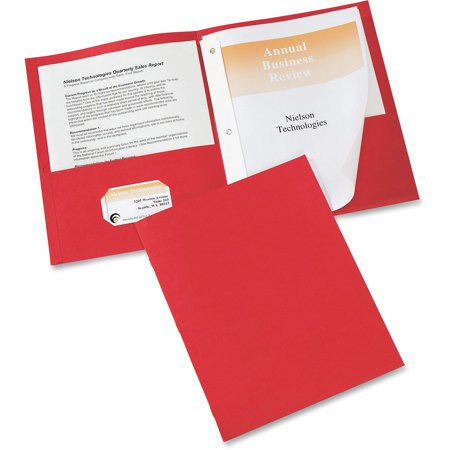 Avery Two-Pocket Folders, 25 Folders, Red (47979) (Avery Two Pocket)