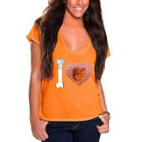 Baltimore Orioles Cuce Women's I Heart Team T-Shirt - Orange