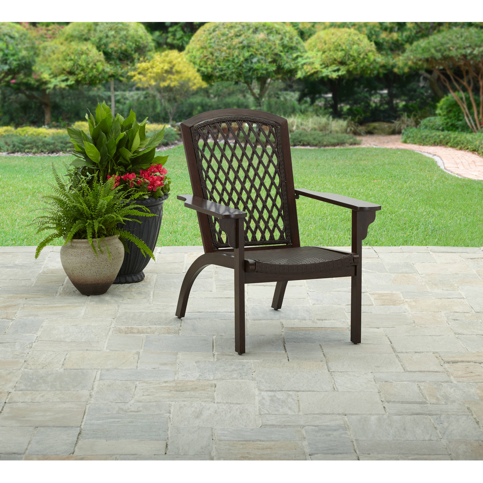 Better Homes And Gardens Legacy Place Aluminum Wicker Adirondack