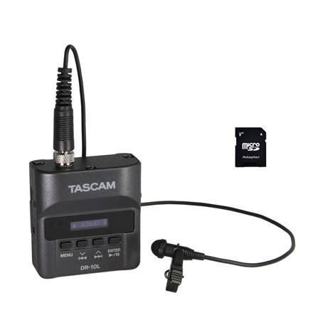 Tascam DR-10L Digital Audio Recorder w/ Lavalier Mic & 32gb Card