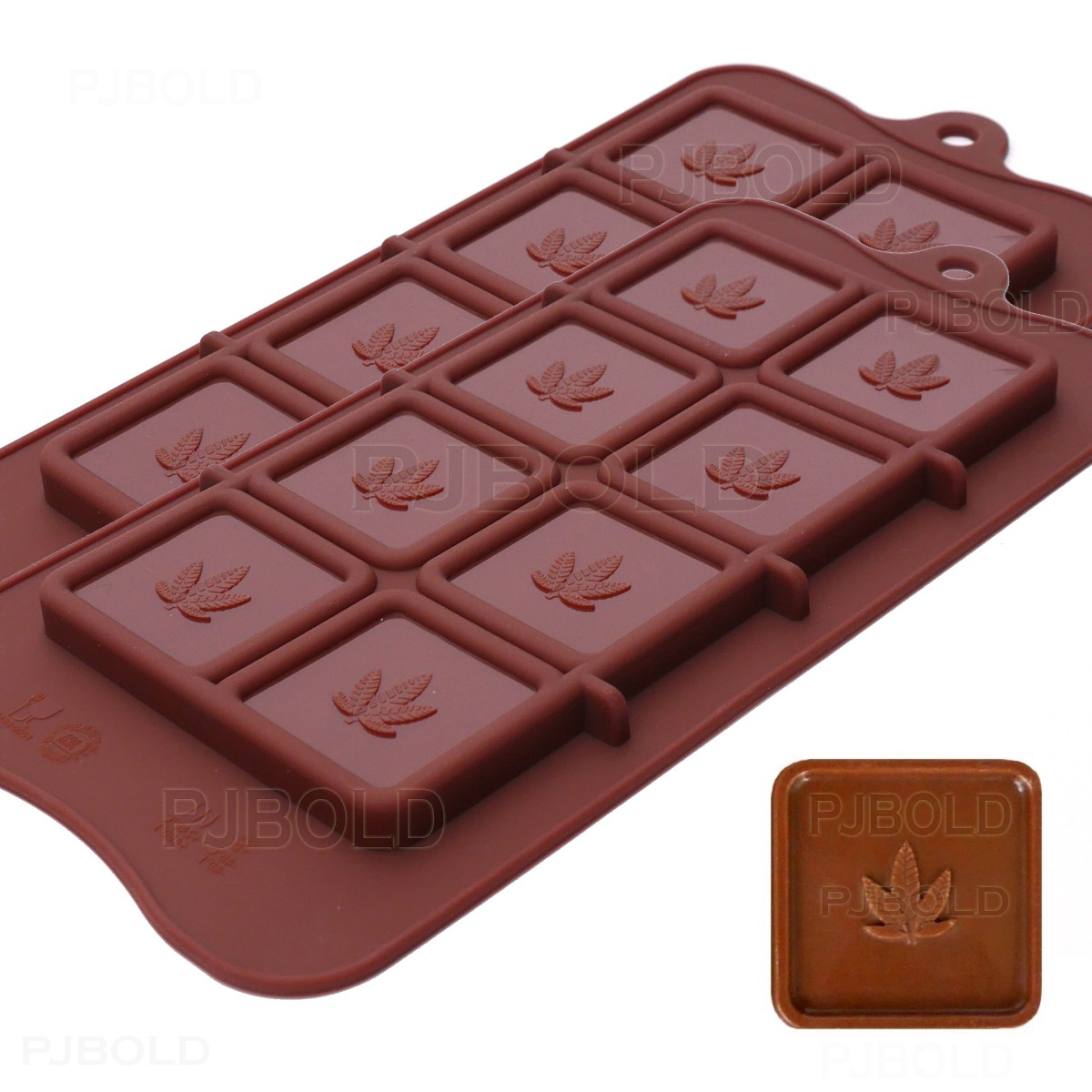 Protein and Energy Bar Mold Inc Freshware CB-607BR Silicone Break-Apart Chocolate