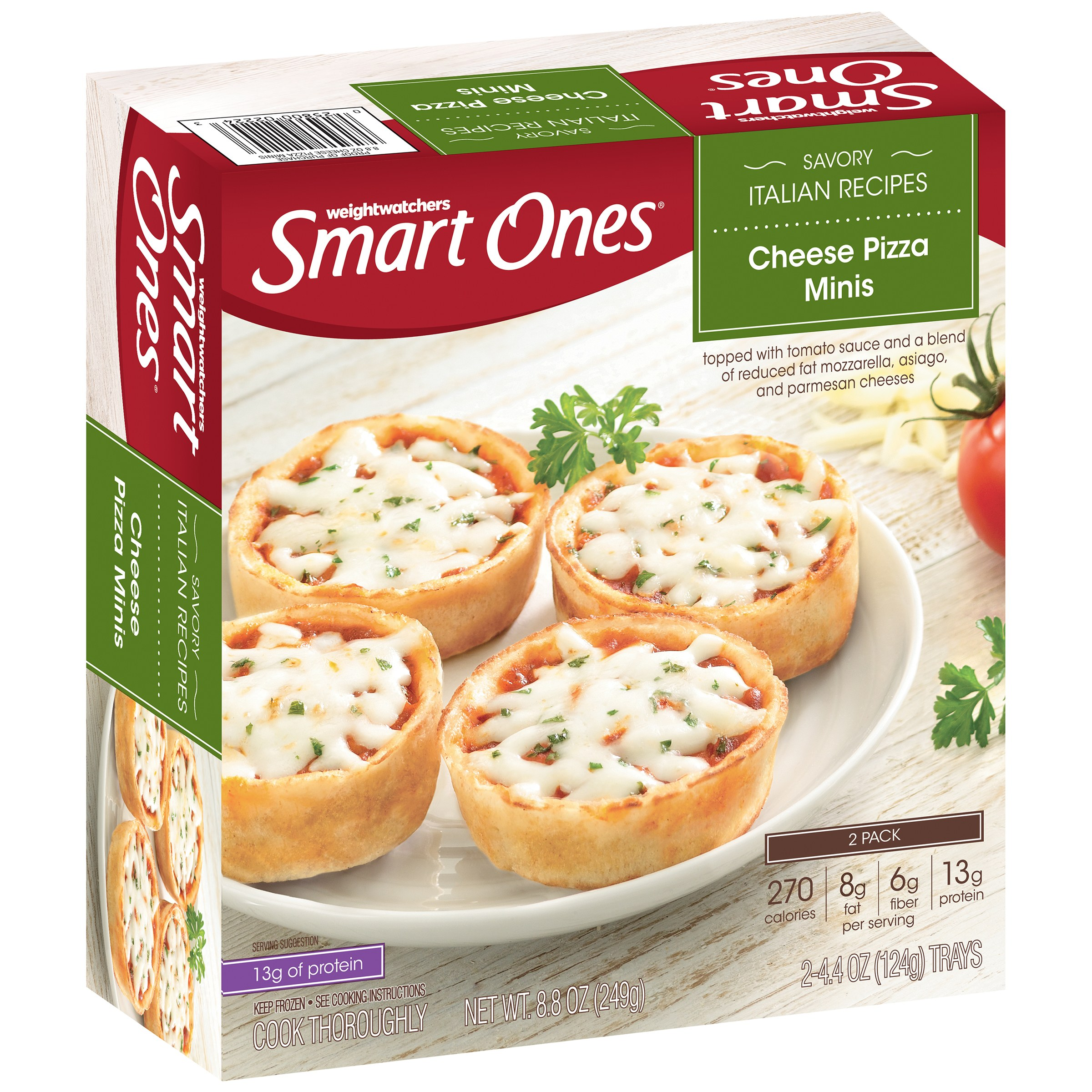 Weight Watchers Smart Ones® Savory Italian Recipes Cheese Pizza Minis 8.8 oz. Box