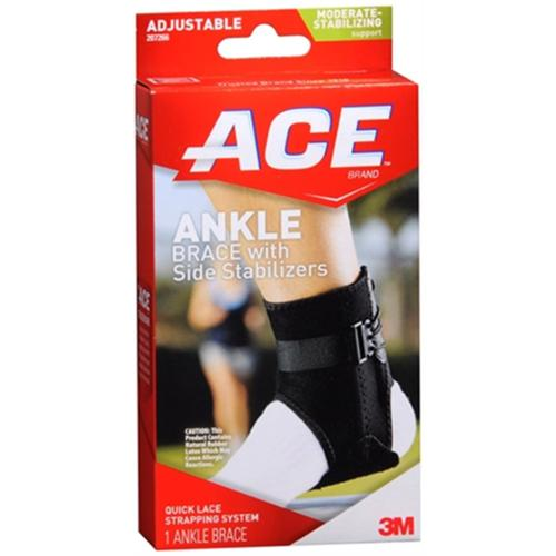 ACE Ankle Brace With Side Stabilizers One Size 1 Each (Pack of 2)