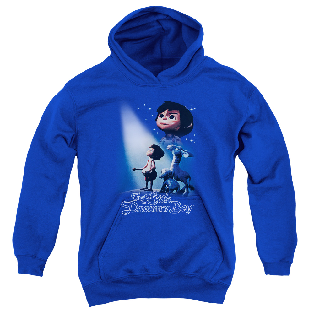 The Little Drummer Boy White Light Big Boys Pullover Hoodie